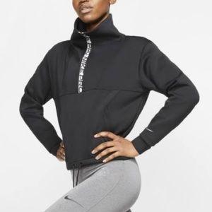 Pro Dri-FIT Fleece Crop Half Zip Top women's Med